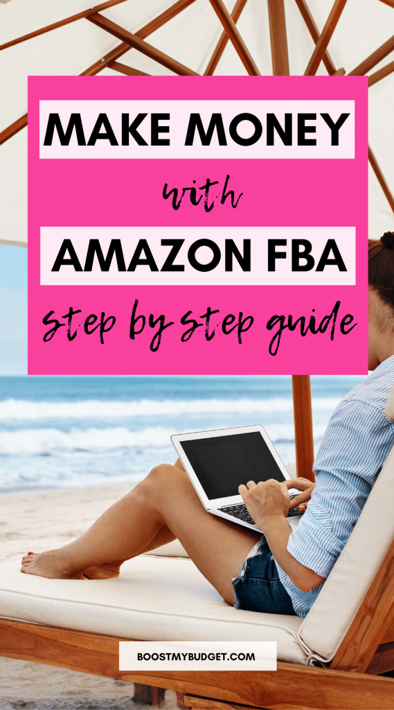 Make money online with this Amazon FBA step by step guide for beginners! Amazon FBA is the ultimate way to make money online. With your Amazon FBA business, you can work from your laptop anywhere in the world. Click through to learn the 4 key steps to get started!